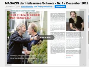 Porträt über Roland Wydemair im Magazin der Heilsarmee.