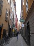 Die engen Gassen der Altstadt von Stockholm, Gamla Stan, laden zum Flanieren und Shoppen ein.