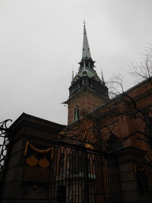 Die Kirche der Deutschen Gemeinde in Gamla Stan der Altstadt von Stockholm.